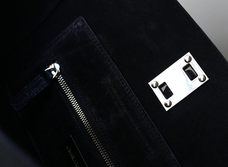 MK蝙蝠包 Michael Kors 黑色荔枝纹原版牛皮抽绳笑脸包手提女包包