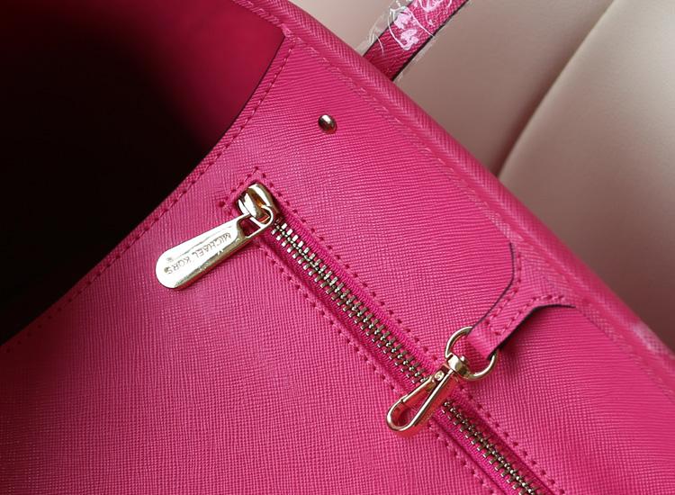 2014新品 michael kors 玫红牛皮女包 复古简约女款单肩包 MK购物袋