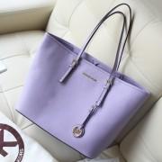 2014热销女包 MK Michael Kors 浅紫原版牛皮女士手提单肩包购物袋