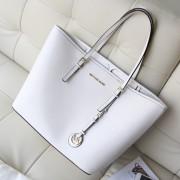 2014新款包包 michael kors 白色牛皮女包 复古简约女款单肩包 MK购物袋