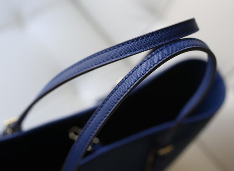 MK购物袋michael kors 蓝色牛皮女包 复古简约女款单肩包