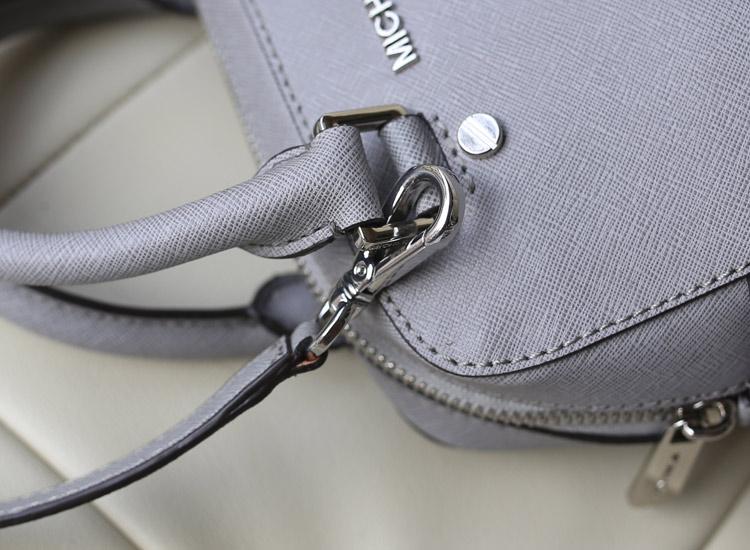 Mk Jet Set 2014新款 大象灰 小号十字纹牛皮 手提斜挎枕头包女包