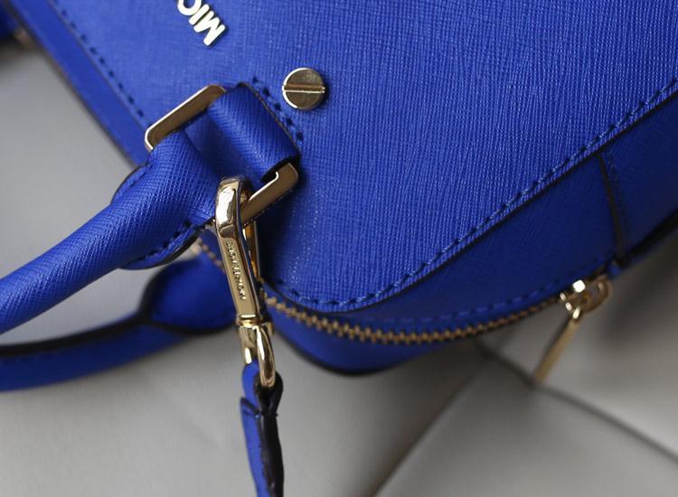 Mk Jet Set 2014新款 小号手提斜挎枕头包原版皮 电光蓝