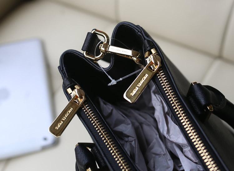 真皮女包批发 MK2014新款双链杀手包 原版皮 黑色