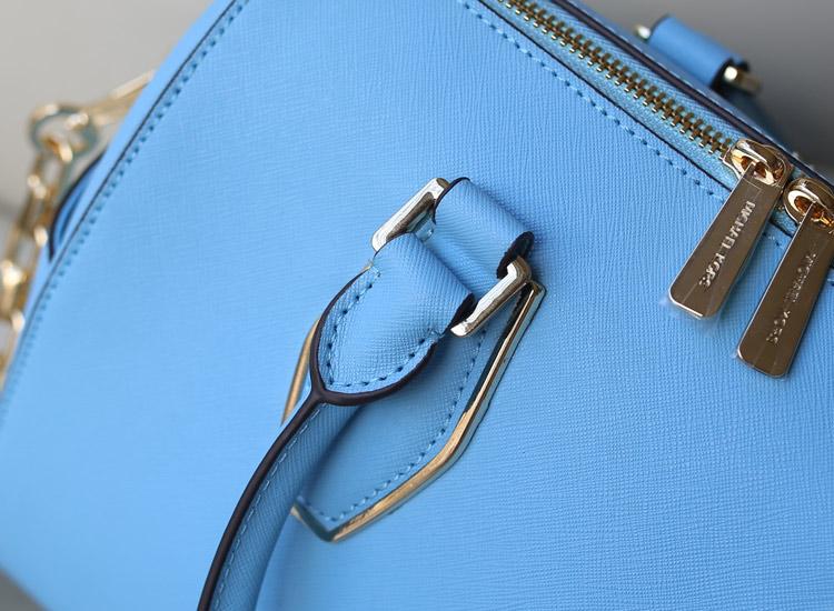 时尚欧美女包 MK2014新款链条包大号枕头包原版牛皮 浅蓝