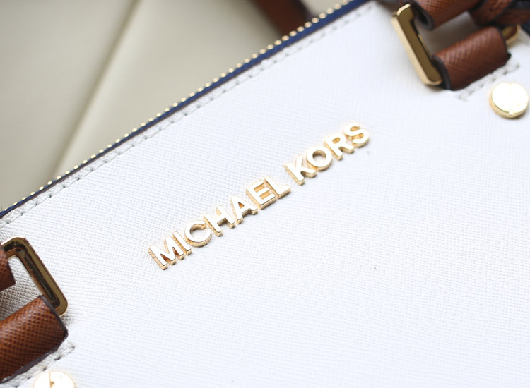 MK包包批发 2014新款dressy/sutton 拼色杀手包 宝蓝原版牛皮