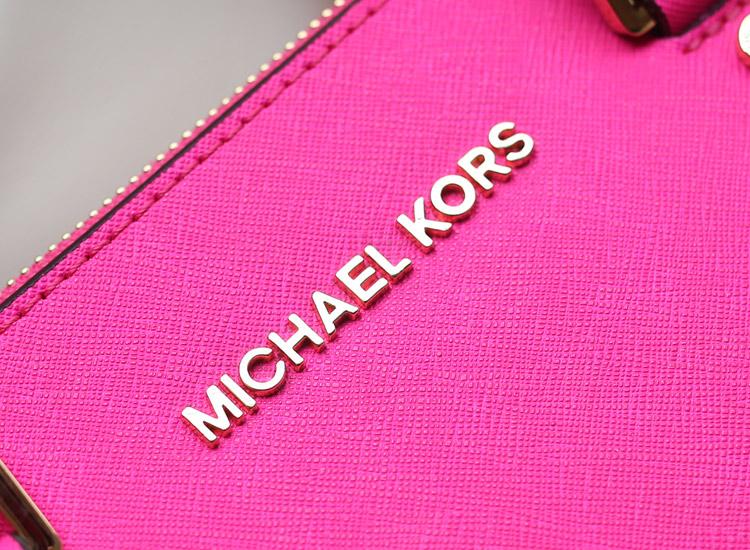 一件代发 MK杀手包 顶级原版皮女士手提包 荧光玫红