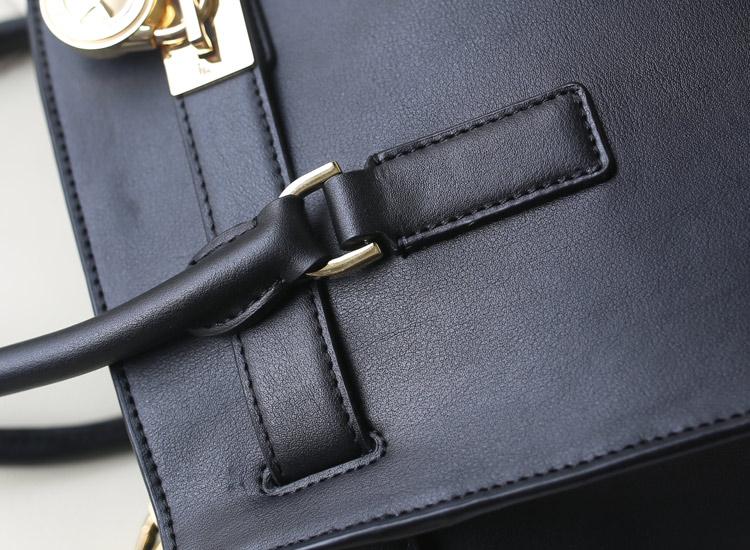 MK 2014秋冬新款 中号笑脸蝙蝠锁头包 手提包斜挎女包 黑色