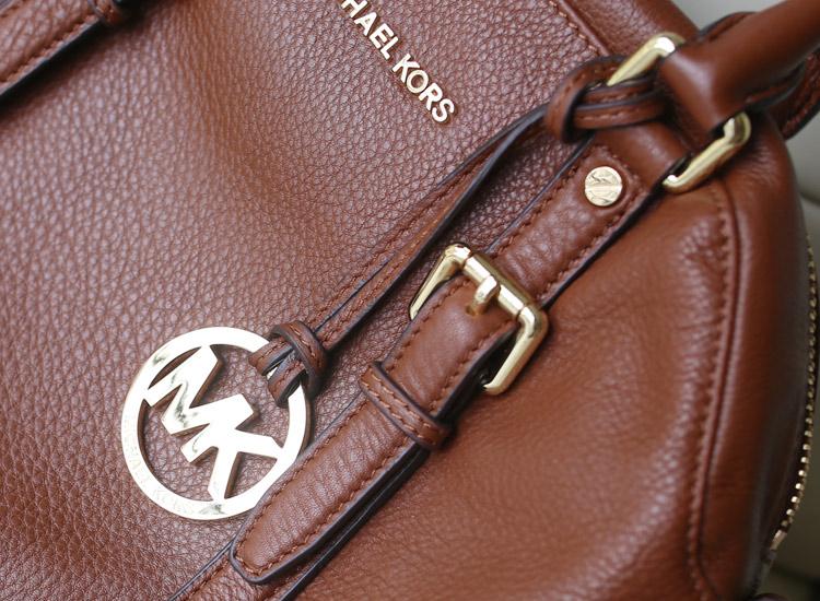 高档女包批发 MK原单女包 秋冬款女士手提包斜挎包 棕色进口牛皮