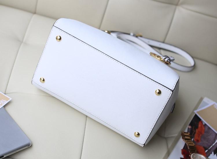 一件代发 MK Jet Set 中号枕头包贝壳包 白色牛皮女包手提单肩包