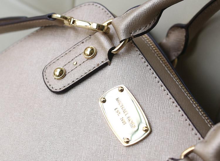 厂家直销 MK新款贝壳枕头包中号 香槟金 原版牛皮女士手提斜挎包