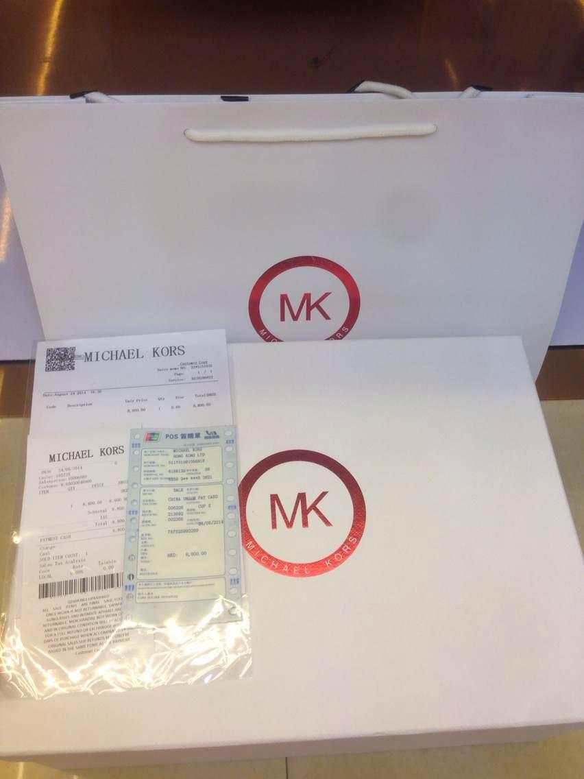 MK香港专柜发票实拍图