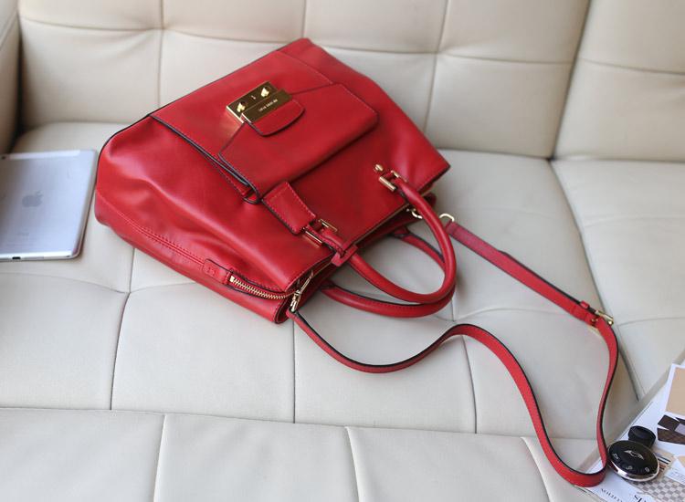 MK包包批发 红色原版韩国进口牛皮手提包单肩斜挎包 欧美时尚百搭女包真皮