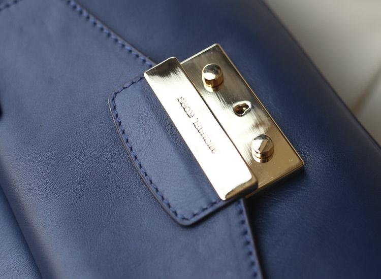 奢侈品货源 Michael Kors MK2014秋冬新款蓝色韩国进口原版牛皮手提单肩斜挎女包