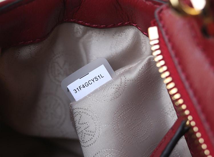 广州MK包包批发 酒红色进口原版羊皮菱格蝙蝠包小号 真皮女包单肩斜挎包