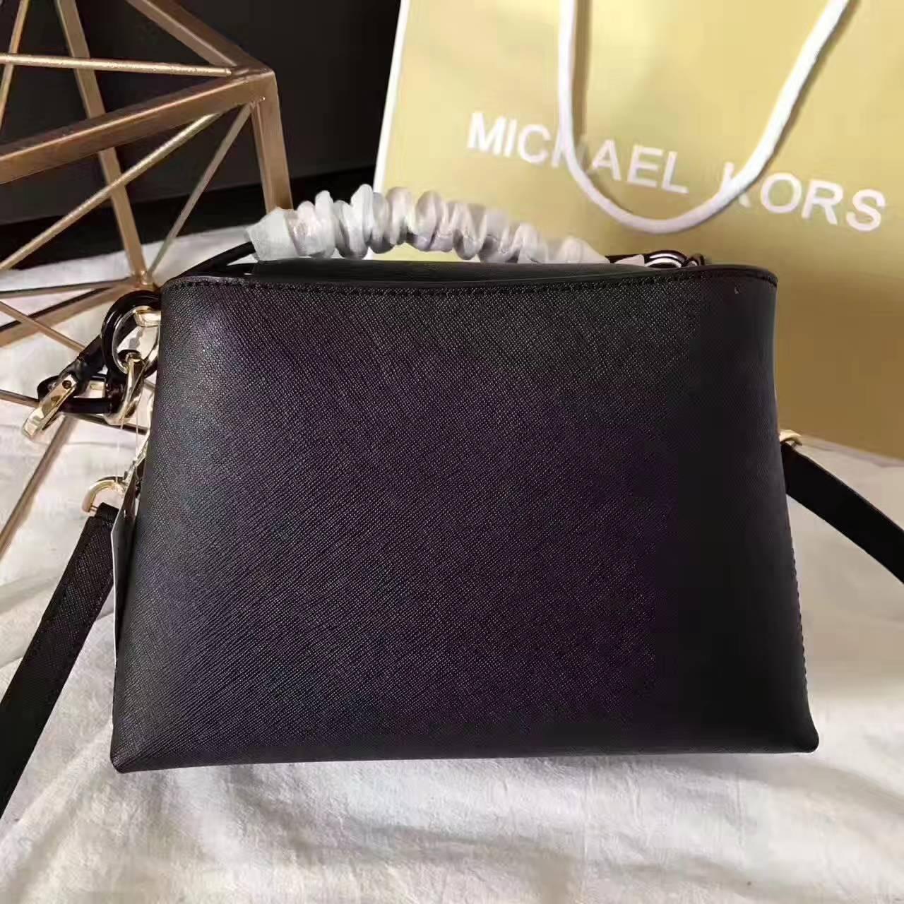 2017新款MK包包 迈克科尔斯海报款玉石单肩包斜挎包 黑色