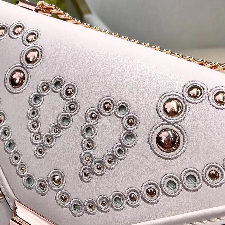 MK新款女包 迈克科尔斯粉色napa牛皮铆钉刺绣装饰Whitney包包23.5cm