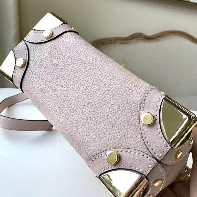 MK新款手提包 迈克高仕粉色荔枝纹牛皮复古Cori手袋手提单肩女包21cm