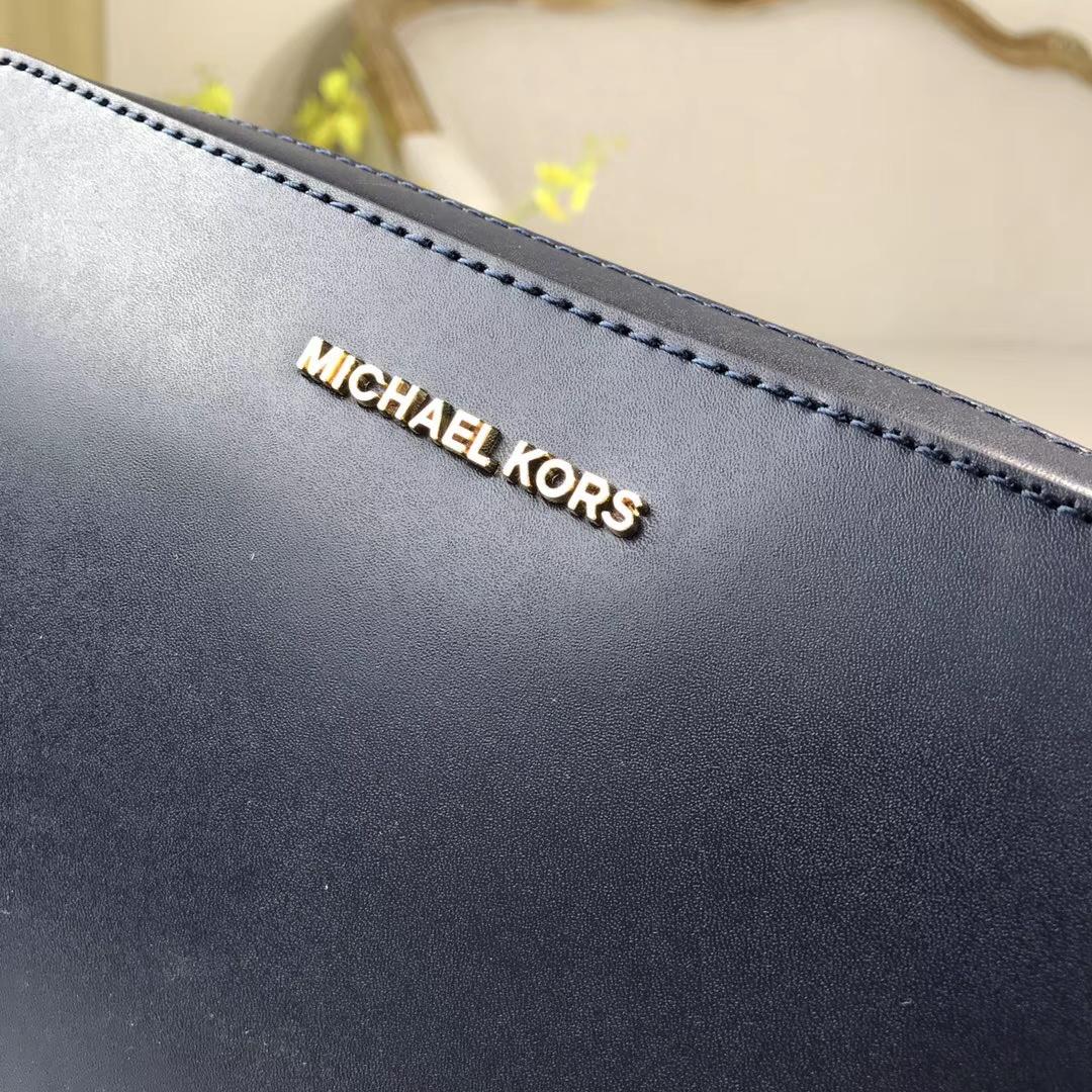 MK新款女包 迈克科尔斯纳帕牛皮太阳花饰链条斜挎女方包24cm 黑色