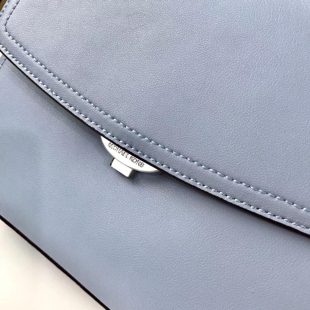 MK2018新款包包 迈克高仕浅蓝色纳帕牛皮Ava小号剑桥包单肩斜挎女包21CM