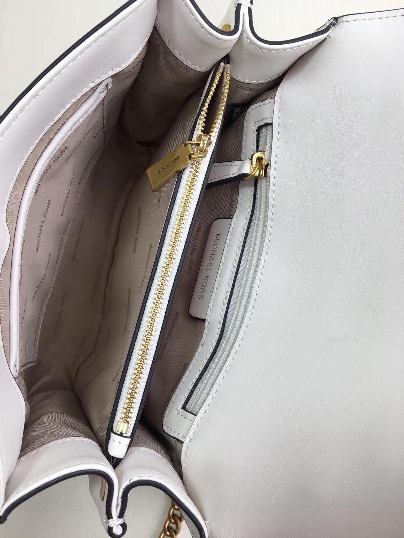 厂家直销 MK迈克科尔斯新款Whitney系列古铜五金单肩斜挎包24cm 白色
