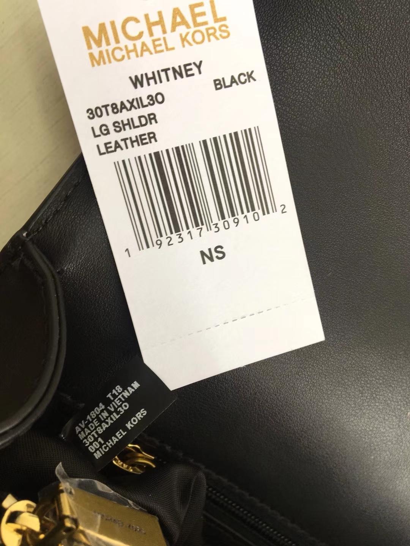 MK新款女包 迈克科尔斯黑色原单牛皮Whitney系列链条单肩女包24CM