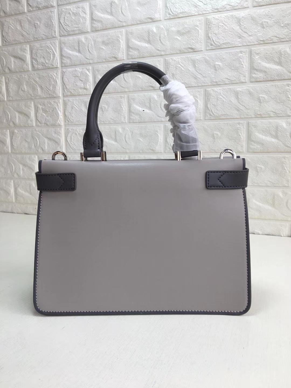 MK新款包包 迈克科尔斯灰色拼色进口纳帕牛皮风琴包手提女包32CM