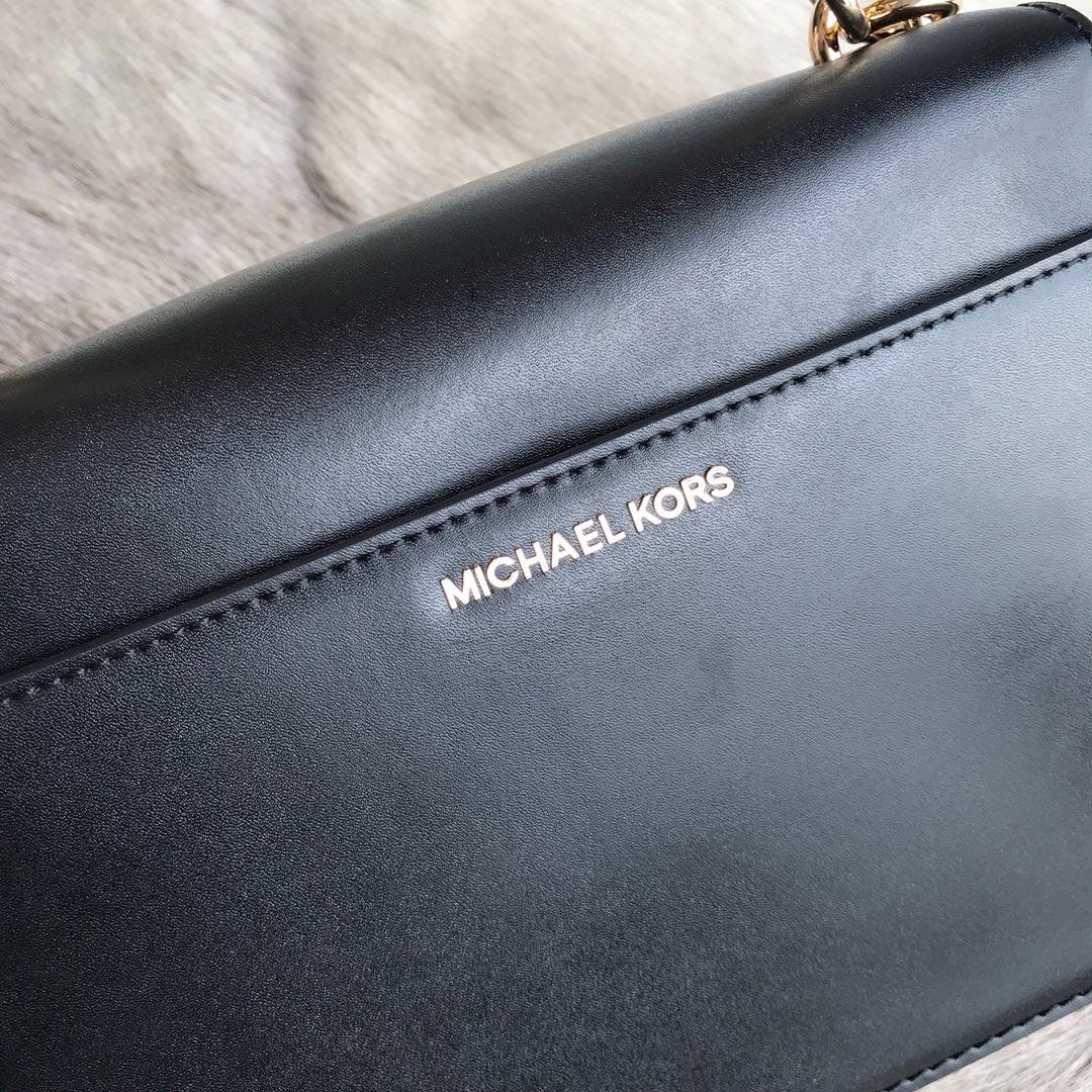 MKGO系列包包 MK2019新款杨幂最新代言牛皮链条单肩斜挎女包23CM 黑色