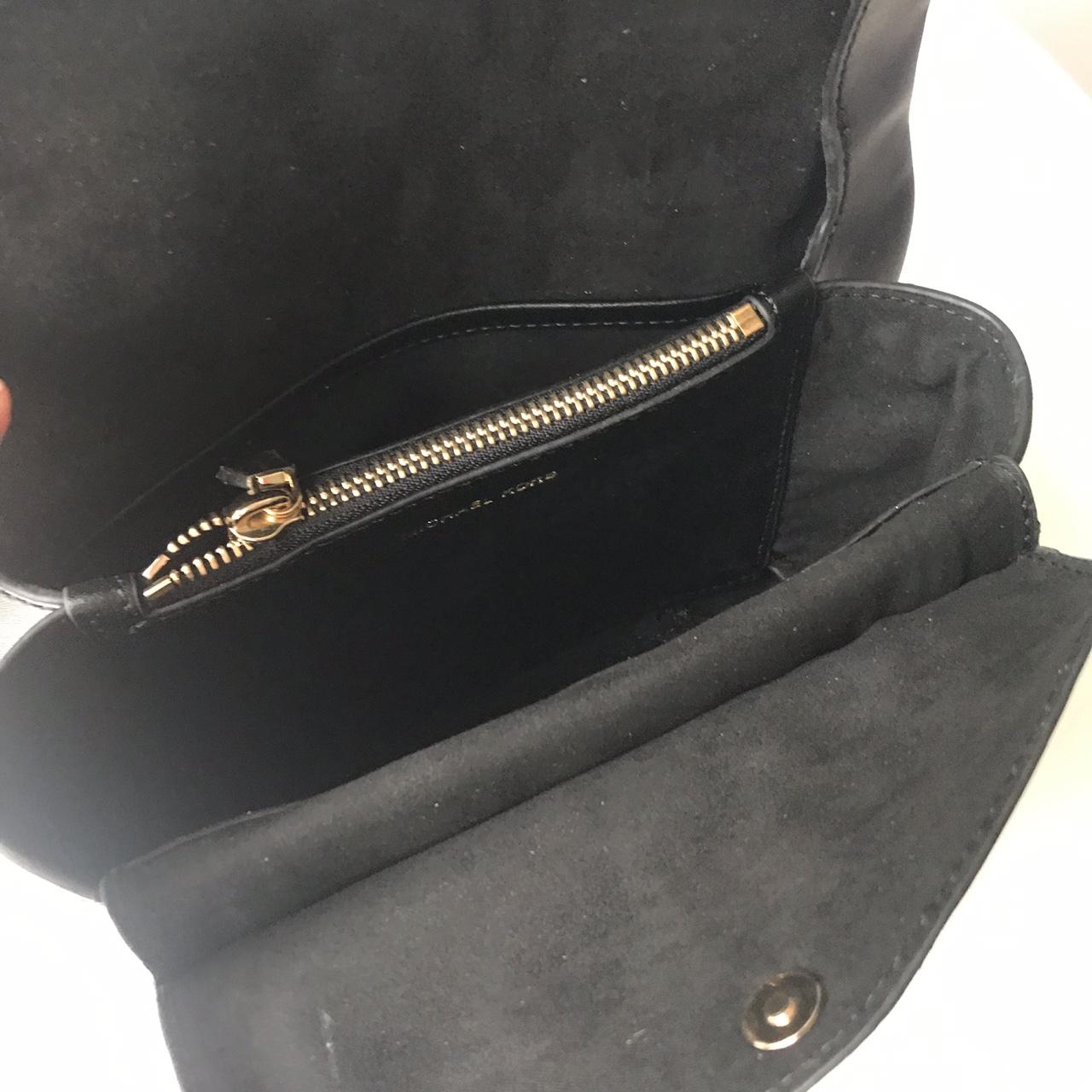 MK包包新款女包 迈克科尔斯原单纳帕牛皮cece链条单肩斜挎包包24CM 黑色