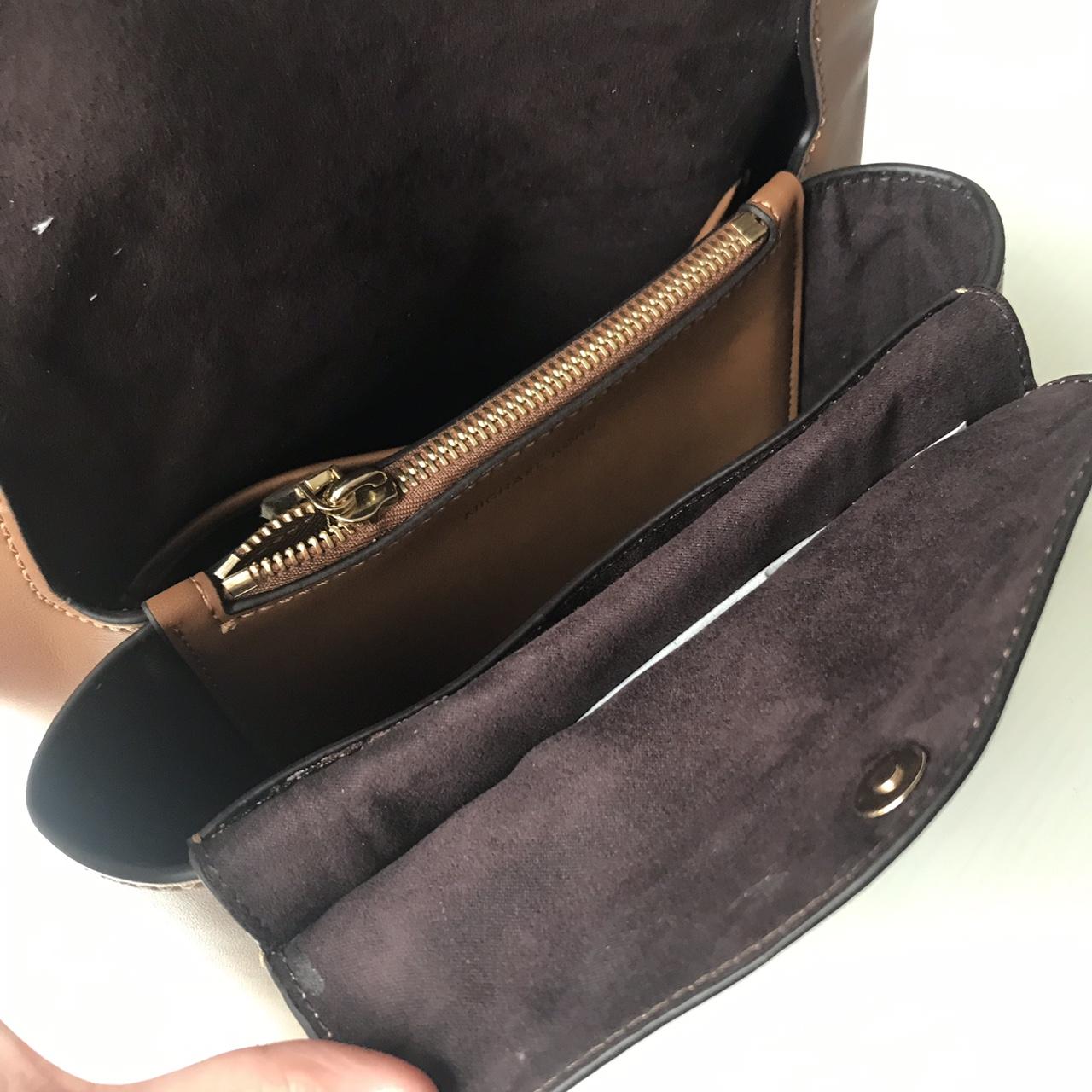 MK包包价格 迈克科尔斯2019专柜新款棕色纳帕牛皮女包单肩斜挎包小中号