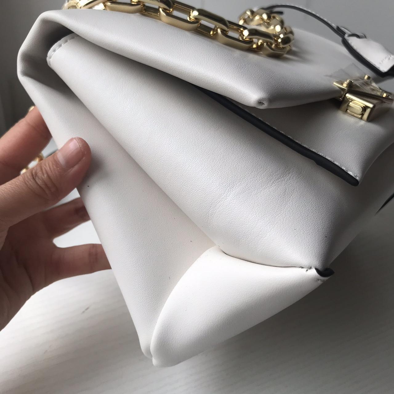 广州包包批发 MK迈克高仕2019新款进口纳帕牛皮杨幂同款Cece链条单肩包 白色
