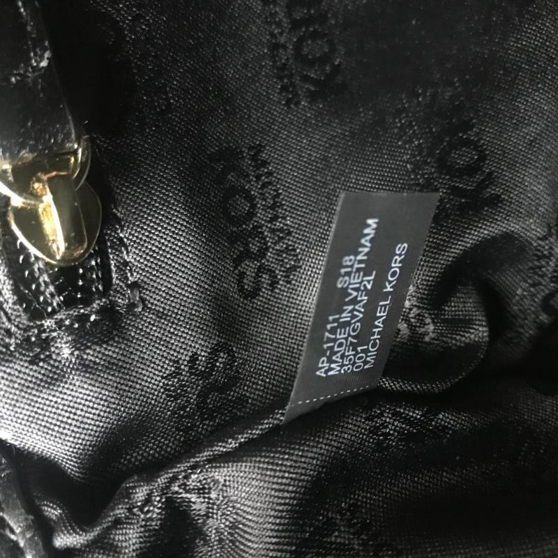 广州白云皮具城 迈克科尔斯MK新款中号铆钉羊皮V格链条单肩斜挎女包 黑色