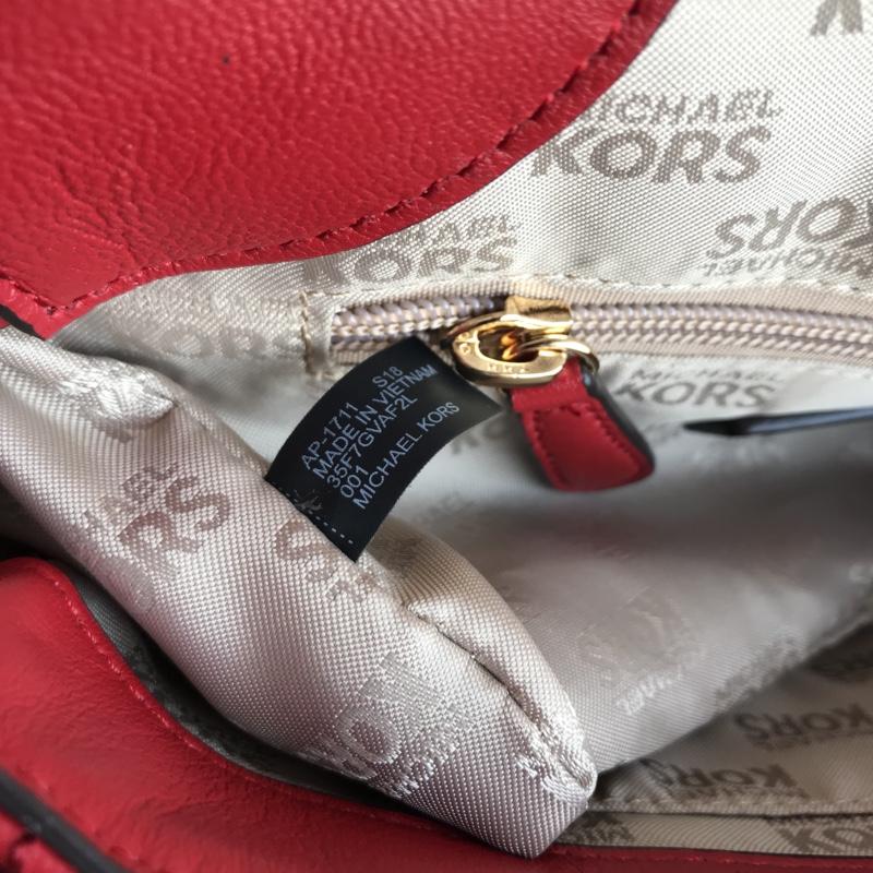MK2019新款女包 迈克高仕铆钉V格羊皮链条包单肩斜挎包包25CM